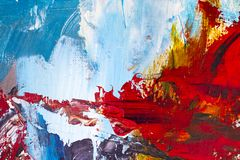 抽象派背景 在画布的油画 装饰, col 向量例证