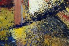 抽象派背景 在画布的油画 库存例证
