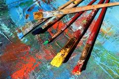 抽象派背景 手画的背景 免版税图库摄影