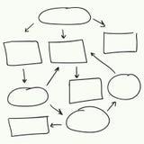 抽象流程图传染媒介设计 库存图片