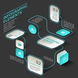 抽象流程图infographics 库存照片