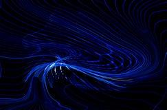 抽象浅兰的动态波浪线HD 免版税库存照片