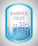 抽象浅兰的实验室标签 免版税库存图片