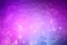 抽象浅紫色的传染媒介摘要织地不很细多角形背景 模糊的三角设计 样式可以为背景使用 库存例证