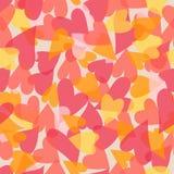 抽象浪漫假日心脏无缝的样式为华伦泰` s天 免版税图库摄影