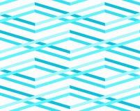 抽象海挥动无缝的样式 免版税库存图片