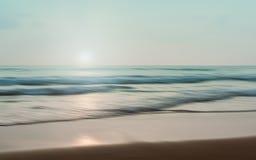 抽象海景有被弄脏的批评的行动背景 免版税图库摄影