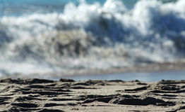 抽象海滩海浪 库存图片