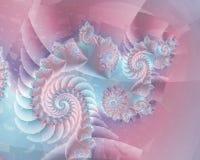 抽象淡色螺旋 库存图片