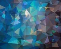 抽象深蓝多角形背景 免版税库存照片