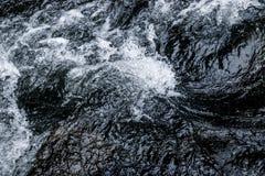抽象深蓝瀑布波浪水背景纹理 免版税库存图片