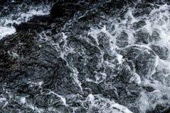 抽象深蓝瀑布波浪水背景纹理 图库摄影