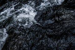抽象深蓝瀑布波浪水背景纹理 库存图片