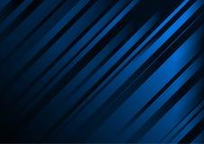 抽象深蓝背景传染媒介模板 免版税库存照片