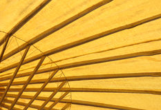 抽象温泉竹子伞 库存照片