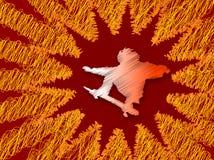 抽象溜冰板者 库存图片
