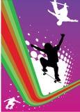 抽象溜冰板运动 库存例证