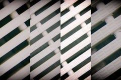 抽象滤网背景白色颜色现代塑料破折线 免版税库存照片