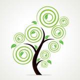 抽象漩涡结构树背景 免版税库存照片