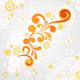 抽象漩涡花卉背景 免版税图库摄影
