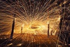 抽象火天体 免版税库存图片