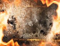 抽象火框架 库存图片