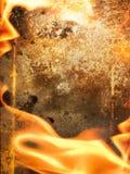 抽象火框架 免版税库存图片