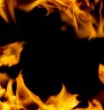 抽象火框架 免版税库存照片