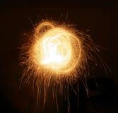 抽象火焰光星形 免版税库存照片