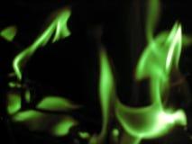 抽象火焰绿色 库存照片