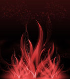 抽象火焰-火 向量例证