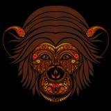 抽象火头猴子样式 免版税图库摄影