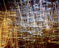 抽象灯光管制线 免版税库存照片