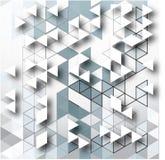 抽象灰色三角背景设计模板 免版税库存照片