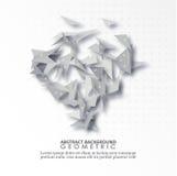 抽象灰色传染媒介背景 灰色三角几何设计EPS10 免版税库存图片