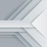 抽象灰色和白色三角塑造背景 免版税库存图片