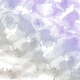 抽象灰色和紫色水彩背景 免版税库存图片