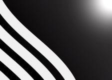 抽象灰色条纹在黑背景构造 库存照片