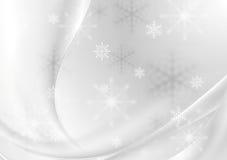 抽象灰色珍珠波浪圣诞节背景 库存照片