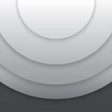 抽象灰色纸盘旋传染媒介背景 免版税图库摄影