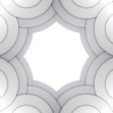 抽象灰色纸盘旋传染媒介背景 库存图片