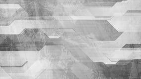 抽象灰色难看的东西技术几何录影动画 库存例证