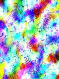 抽象热带棕榈树动物皮毛样式 免版税图库摄影