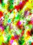 抽象热带棕榈树动物皮毛样式 免版税库存照片