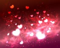 抽象焕发软的心脏为情人节 皇族释放例证