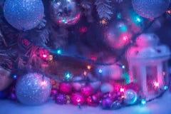 抽象照片新年` s圣诞节假日 免版税库存图片