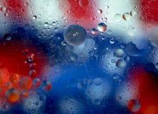 抽象爱国星条旗背景 免版税图库摄影
