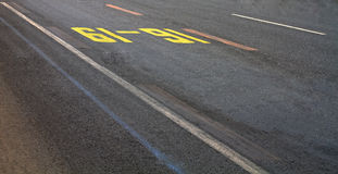 抽象特写镜头路街道视图 图库摄影