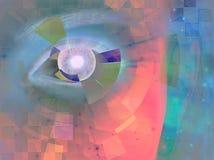 抽象特写镜头眼睛 向量例证