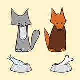 抽象猫和狗 库存图片